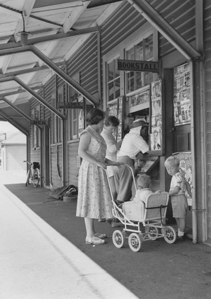Waiting for the train at Plimmerton 1956 Photo Courtesy Allan Dodson