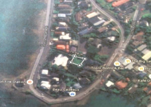 Aerial view Taupō No 2 Block with current urupā outlined Courtesy: Google maps