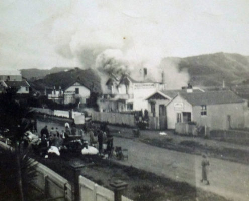 Fire at Steyne House (Erenora) 1923 Photo courtesy Bernie Comerford collection