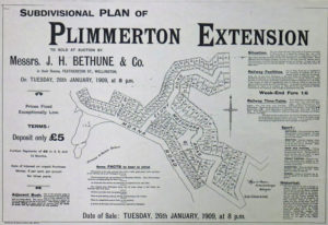 The sale of the first subdivision at Plimmerton Extension in January 1909. Courtesy :Bernie Comerford, Historical Collection