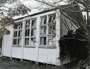 "The ""old tin shed"" as the relocatable classroom was known when the Mana Little Theatre began using it as a studio in 1959. Photo courtesy Drama by the Sea: Mana Little Theatre's First Fifty Years"
