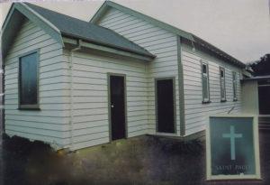 St Paul's Church, Karehana Bay 1924-2007 Photo courtesy Seventy Five years in the Sun: The Story of the Plimmerton Parish 1924-1999