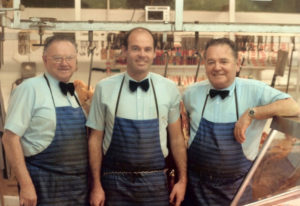 From left - Ivan, Ron and Bill, 1986 Photo courtesy: Mary Casey's collection