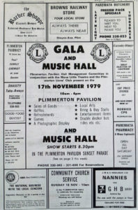 Gala and Music Hall event at the Pavilion 1979 Courtesy Bernie Comerford collection