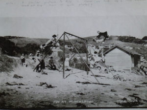 Swing on Karehana Beach after WWI Photo courtesy Alistair Robb Collection, Pataka Art + Museum, Porirua