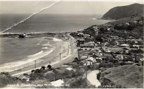 Postcards Plimmerton black and white view